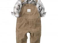 אוברול קורדורוי וחולצה משבצות לתינוק של Carter's – צ'רמר