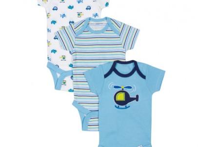 מארז שלישיית בגדי גוף לתינוק מבית Gerber – ממריאים גבוה