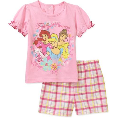 מארז חולצה ומכנסיים לתינוקת של ©Disney – נסיכת דיסני