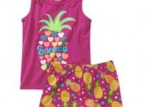 מארז גופיה ומכנסיים של Healthtex – אמא, גם אני רוצה שייק פירות עם אננס!