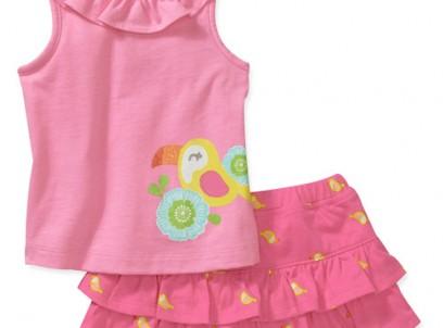 מארז גופיה וחצאית לתינוקת של Carter's – בירדי