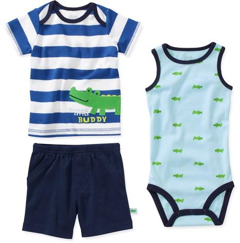 מארז בגד גוף, חולצה ומכנסיים במידת NB לתינוק של Carter's – אחרון במלאי!