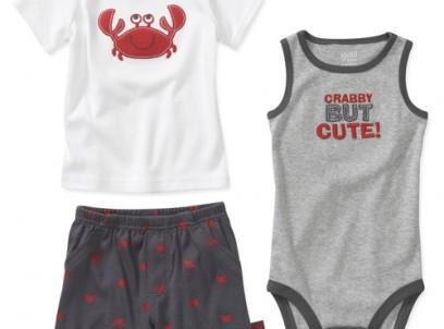 מארז בגד גוף, חולצה ומכנסיים לתינוק של Carter's – קושקושון – נותר אחרון במידת NB!