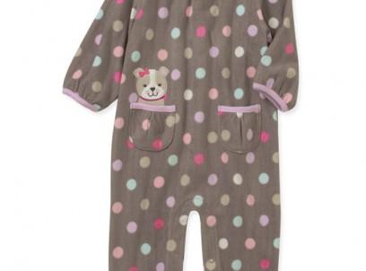 בגד גוף פליז ארוך לתינוקת של Carter's – פשושית