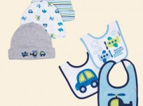 מארז שלושה סינרים ושלושה כובעים במידה 0-6M של Gerber –  צעצועים