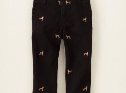 מכנסיים ארוכים לתינוק מבית Children's Place – רקמת כלבים