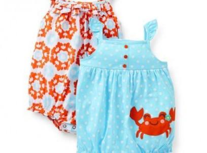 מארז 2 בגדי גוף לתינוקת של Carter's – משחקים ונהנים