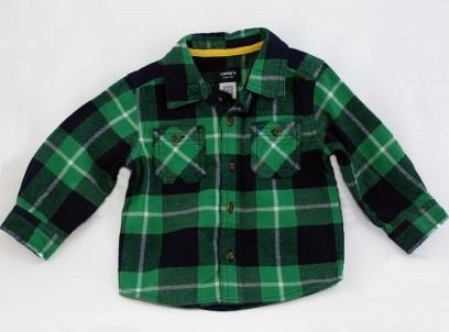 חולצת פלנל מדליקה לתינוק Carter's – ירוק