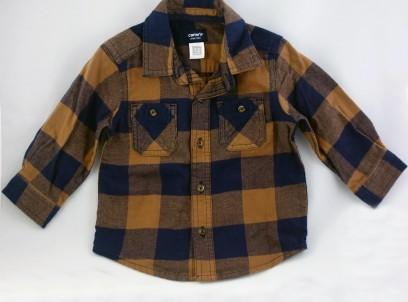 חולצת פלנל מדליקה לתינוק Carter's – בראון