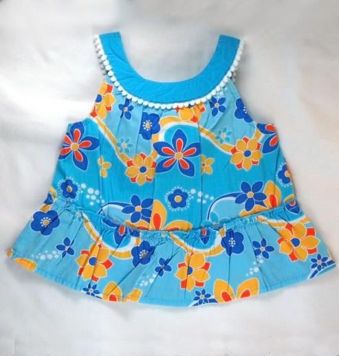 גופיה לתינוקת מבית crazy8 – כחול פרחוני