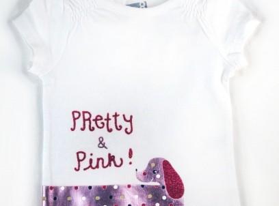 חולצה לתינוקת מבית crazy8 – כלבלב Pretty & Pink