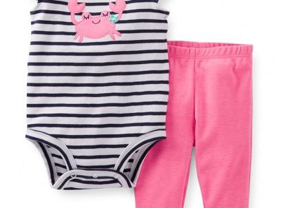 מארז בגד גוף ומכנסיים לתינוקת מבית Carter's – צ'וקו מוקו