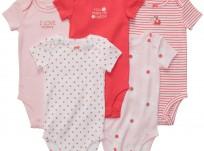 חמישיית בגדי גוף במידת Preemie (פג) לתינוקת של Carter's – הלכתי לקנות פירות יער