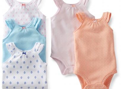 חמישיית בגדי גוף לתינוקת של Carter's – שותה מיץ קוקוס בתאילנד