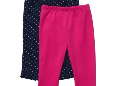 מארז שני מכנסי טייץ לתינוקת מבית Carter's – נקודות