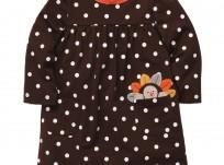 שמלה לתינוקת של Carter's – אפרוח מציץ בכיס