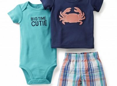 מארז בגד גוף, חולצה ומכנסיים לתינוק של Carter's – Big Time Cutie
