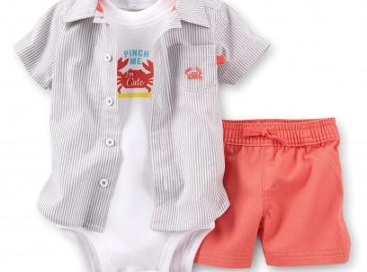 מארז בגד גוף, חולצה ומכנסיים לתינוק של Carter's – חופשה עם המשפחה