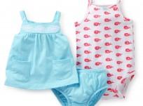 מארז שמלה ובגד גוף של Carter's – לווייתנית