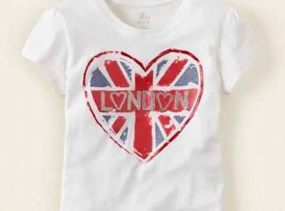 חולצה לתינוקת מבית Children's Place – הדפס London