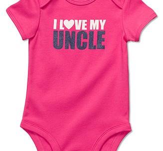 בגד גוף לתינוק של Carter's – אני אוהבת את דוד שלי!