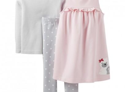 מארז שמלה, חולצה ומכנס של Carter's – נסיכה מהאגדות