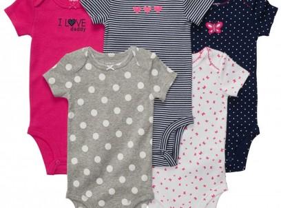 חמישיית בגדי גוף לתינוקת במידת NB של Carter's – איך היא אוהבת