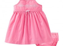 שמלה לתינוקת של Carter's – היידי בת ההרים ורודה