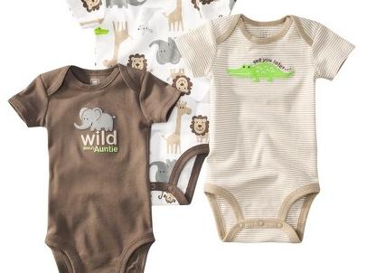 מארז שלישיית בגדי גוף מודפסים לתינוק מבית Carter's – בלאגן בג'ונגל
