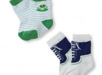 מארז 2 זוגות גרביים לתינוק של Children's Place – נסיך צפרדע