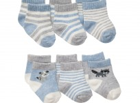 שישיית גרביים של Carter's – מידות 3-12 חודשים