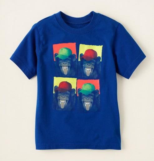 חולצה קצרה לתינוק מבית Children's Place – ארבעת הקופים