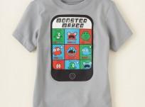 חולצה קצרה לילד מבית Children's Place – מפלצות