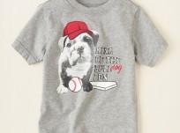 חולצה קצרה מבית Children's Place – בולדוג שובב