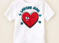 חולצה קצרה לילד מבית Children's Place – לב Ladies man