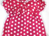 שמלה לתינוקת מבית Children's Place – ורודה עם שרוולים תפוחים