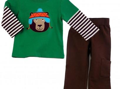 מארז חליפה חולצה ומכנס לתינוק Carter's – דובי