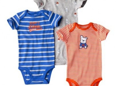 מארז שלישיית בגדי גוף לתינוק של Carter's – כלב ספורטיבי