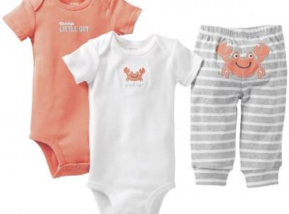 מארז במידת Preemie (פג) שני בגדי גוף ומכנסיים לתינוקת של Carter's – צבוט אותי