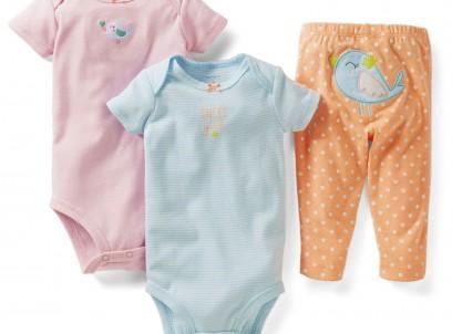 מארז במידת Preemie (פג) שני בגדי גוף ומכנסיים לתינוקת של Carter's – שיר הציפור