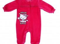 אוברול לתינוקת במידת New Born של Hello Kitty© – לבבות