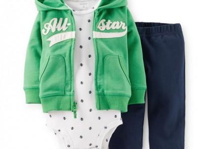 מארז בגד גוף, סווטשירט ומכנסיים Carter's – אני מוכן לטיול סקי!