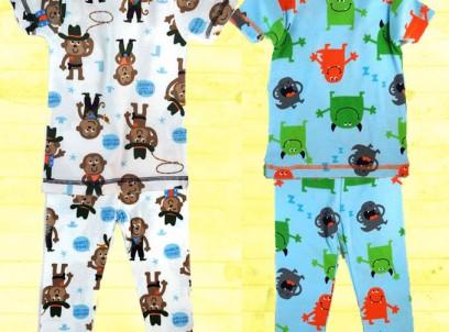 מארז 2 פיג'מות לתינוק 6-9M של Carter's – שובבים! – מבצע מיוחד!