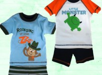 מארז שתי פיג'מות לתינוק 6-9M של Carter's – שרוול קצר
