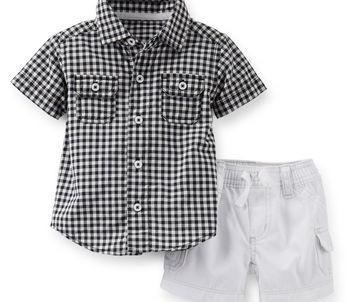 מארז חולצת פולו ומכנס של Carter's – נסיך קטן