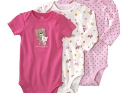 מארז שלישיית בגדי גוף מודפסים לתינוקת מבית Carter's – דובים Mommy and Me