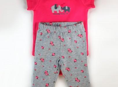 מארז בגד גוף ומכנסיים לתינוקת מבית Carter's – הפילה הקטנה