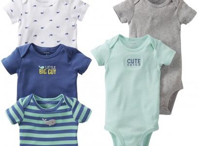 חמישיית בגדי גוף לתינוק של Carter's – לויתן שמנמן