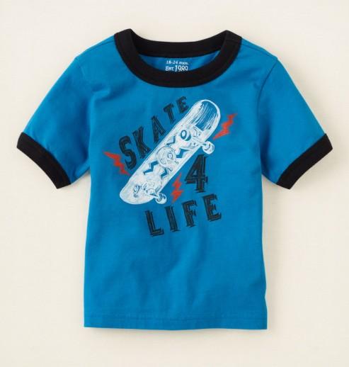 חולצה לתינוק מבית Children's Place – הדפס Skate 4 Life