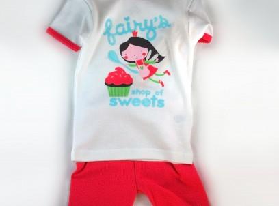 סט חולצה ומכנסיים לתינוקת של Carter's